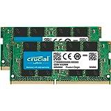 Crucial 32GB Kit (16GBx2) DDR4 2400 MT/s (PC4-19200) DR x8 Unbuffered SODIMM 260-Pin Memory - CT2K16G4SFD824A, Green
