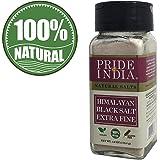 Pride Of India - Himalayan Black Rock Salt - Extra-Fine Grind, (4.0 oz, 113.4gm)- Kala Namak - Contains 84+ Minerals - Perfec