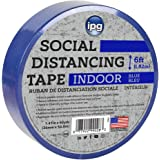 "IPG SDB48 Indoor Social Distancing Tape, 1.41"" x 60 yd, Blue"