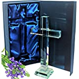 Crystal Cross in Gift Box – Modern Cross Decor - Makes Ideal Christian Gifts or Religious Gifts for Women and Men. A Wonderfu