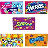 SweeTARTS, Spree, Gobstopper & Nerds Theater Box Variety Pack, 5 Ounce, Pack of 10