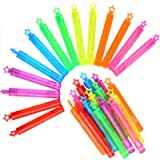 Punertoy 28 Pack Mini Bubble Wand Set(7 Colour), Party Favour Summer Toy for Kids Party, Celebrations, Birthdays, Gift