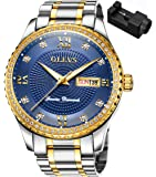 OLEVS 腕時計 メンズ ビジネス 時計 うで時計 男性用 ブランド メタルバンド ステンレスバンド アナログ 表示…