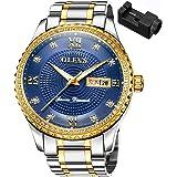 OLEVS 腕時計 メンズ ビジネス 時計 うで時計 男性用 ブランド メタルバンド ステンレスバンド アナログ 表示 おしゃれ カジュアル watch for men
