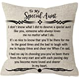 ITFRO Great Aunt Gift from Niece Nephew with Funny Sayings Lumbar Waist Cotton Linen Throw Pillow Case Cushion Cover Couch So