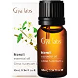 Gya Labs Neroli Essential Oil - Mood Calmer for Peaceful Sleep & Smooth, Hydrated Skin (10ml) - 100% Pure Natural Therapeutic