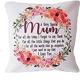 Personalised Cream Canvas Cushion Scatter Cushion Home Decor Mum Thank You Gift I Love You Birthday Christmas Nan Nanny Etc