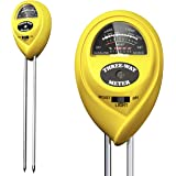 I IBIFIC Soil pH Meter, 3-in-1 Tester Kits with Moisture, Light and PH Test for Garden, Farm, Lawn, Indoor Outdoor Plants, No