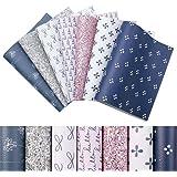 "Litchi Faux Leather Fabric Sheets 7 Pcs 7.8""x13.3"" (20 cm x 34 cm) Glitter Faux Leather Fabric Sheets Include 2 Kinds of Leat"