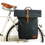 TOURBON Canvas Bike Rack Pannier Rear Seat Storage Trunk Bag Backpack