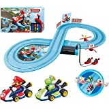 Carrera First Mario Kart - Slot Car Race Track With Spinners - Includes 2 Cars: Mario and Yoshi - Battery-Powered Beginner Ra