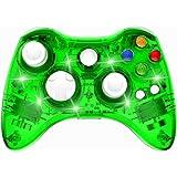Wireless Xbox 360 Controller Double Motor Vibration Wireless Gamepad Gaming Joypad, Green - PAWHITS