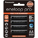 Panasonic AA High-Capacity Ready-to-Use Ni-MH Rechargeable Eneloop Pro Batteries, 4-Pack (BK-3HCCE/4BT)
