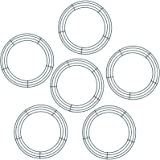 Sumind 6 Pieces Dark Green Wire Wreath Rings Wire Wreath Frame for New Year Valentines Decoration (10 Inch)