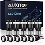 AUXITO 194 LED Light Bulb,Super Bright Ultra Blue 168 2825 W5W T10 Wedge 24-SMD 3014 Chipsets LED Replacement Bulbs Error Fre