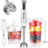 AIFEEL Hand Blender Set with 5 Accessories, Immersion Stick Blender with Milk Frother,500ML Chopper, 600ML Measuring Cup and
