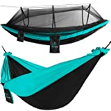FE Active Outdoor Camping Hammock - Double Hammock with Removable Mosquito Net Portable Hammocks for Trees with Adjustable Tr