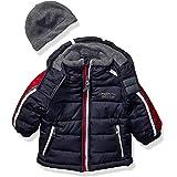 LONDON FOG Boys' Little Active Puffer Jacket Winter Coat, Super