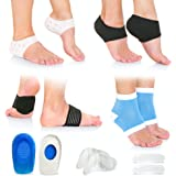 Plantar Fasciitis Foot Pain Relief 14-Piece Kit – Premium Planter Fasciitis Support, Gel Heel Spur & Therapy Wraps, Compressi
