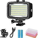 Neewer Underwater Lights Dive Light 60 LED Dimmable Waterproof LED Video Light 131feet/40m for GoPro Hero 6 5 4 Hero Session