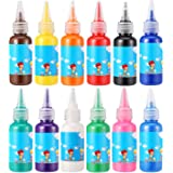 HOMKARE Finger Paints, Non-Toxic and Washable Finger Paints, Ideal for Toddlers and Kids (12 x 1.01 US fl oz./30ml)