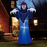 Joiedomi Halloween 8 FT Inflatable Spooky Warlock with Build-in LEDs Blow Up Inflatables for Halloween Party Indoor, Outdoor,