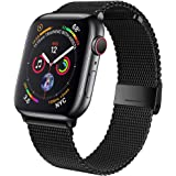 jwacct Compatible for Apple Watch Band 38mm 40mm 42mm 44mm, Adjustable Stainless Steel Mesh Wristband Sport Loop for iWatch S