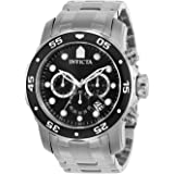 """Invicta Men's 0069""""Pro Diver Collection"""" Stainless Steel Watch"""