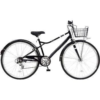 CHACLE(チャクル) 空気入れ不要! ノーパンク自転車 カゴ付きクロスバイク 27インチ [外装6段変速、LEDオートライト、前後フェンダー] ブラック CBN-CC276HDP