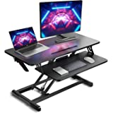 "Standing Desk Converter- 34"" Height Adjustable Desk Riser, Stand up Computer Workstation for Monitor and Laptop, Home Office"