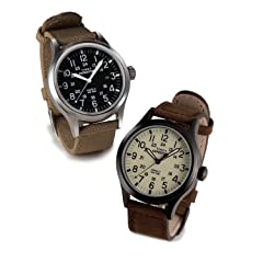 Timex Expedition Scout Metal Horween Chromexcel