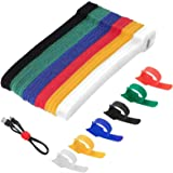 60 Pack Cable Ties Reusable,Proxima Direct 6 Color Cable Straps Multi-Purpose Tie Wraps Fastening Straps Used for Headphones