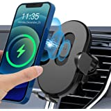 Wireless Car Phone Mount Charger with 15w Qi Fast Charging,Car Phone Holder Charger with Sensor Auto-Clamping,Air Vent Wirele