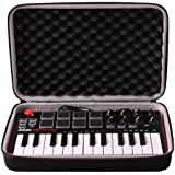 LTGEM Travel Hard Carrying Case for Akai Professional MPK Mini MKII | 25-Key Ultra-Portable USB MIDI Drum Pad & Keyboard Cont