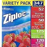 Ziploc Storage Bags (347 Pack - Variety)
