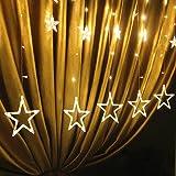 TopYart-星型装飾LEDライト LED 星 イルミネーション オーナメント LEDストリングライト 飾りスター クリスマス飾り 2.5m 138LED パーティー 結婚式 雰囲気作り 電池式