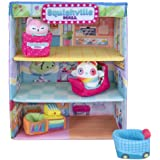 Squishville Squishmallows Mall - Two 2-Inch Mini-Squishmallows Plush Characters, Themed Play Scene, 4 Accessories (Shopping B