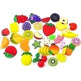 Honbay 30PCS Slime Charms, Assorted Flatback Resin Slime Beads for Scrapbooking, Hair Clip, DIY Crafts, etc (Fruit)
