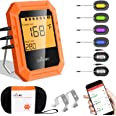 Bluetooth Meat Thermometer, Wireless Digital BBQ Cooking Thermometer for Oven Grill, 6 Probes Meat Thermometer for Grilling,