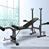 Everfit Weight Bench Home Multi Gym Station Adjustable Bench Military Press Workouts Chest Flys Incline Curl Extensions 180/2