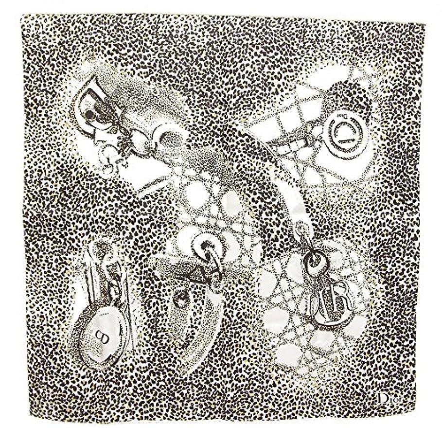ダーベビルのテス鋭くかもめDior(ディオール) スカーフ ベージュ ダークブラウン シルク 中古 プチスカーフ ロゴ レオパード ハンカチーフ レディディオール豹柄 Christian Dior [並行輸入品]
