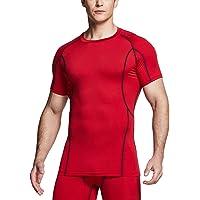 (テスラ)TESLA メンズ オールシーズン 半袖 ラウンドネック スポーツシャツ [UVカット・吸汗速乾] コンプレッ…