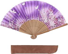 ヴィヴィラウンジ 絹 シルク 扇子 桜 花 花柄 扇子袋付 箱入り 母の日 プレゼント 暑さ 対策 レディース 女性