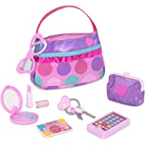 Play Circle by Battat PC2240Z Princess Purse Set 8-piece Kids Play Purse and Accessories Pretend Play Purse Set Toy with Pret