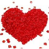 1000 Pieces No-Taste PA Rose Petals Wedding Artificial Roses Fake Roses Petals (Type A)