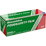 Ronaldos Food Safety Film, 18 inch x 2000ft Plastic Wrap, Commercial Grade, Great for Sealing and Storage, Used for Food Serv