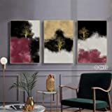 3 Pieces Modern Wall Art Painting Nordic Minimalist Wind Abstract Woods Posters Decor Picture Printed Canvas Artist Home Deco