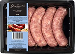The Gourmet's Pack Pork and Honey Thick Sausages, 5 Count - Chilled