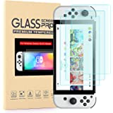 [3 Pack] Screen Proctor for Nintendo Switch OLED Model, Transparent HD and Anti-Scratch Tempered Glass Screen Protector for S