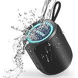 SOWO Bluetooth スピーカー 小型 IPX7防水 高音質 360°サウンド 重低音 マイク内蔵 おしゃれ Led ライト Type-C急速充電 ブルートゥース スピーカー ワイヤレス ポータブル 屋外 お風呂 携帯 iPhone & An
